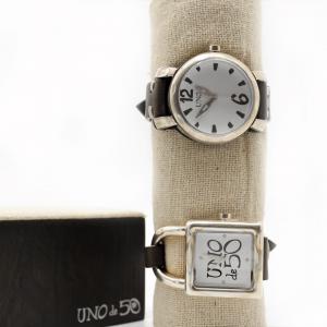 reloj-plata-cuero-clásico-analógico