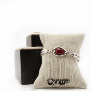pulsera-plata-piedra-roja